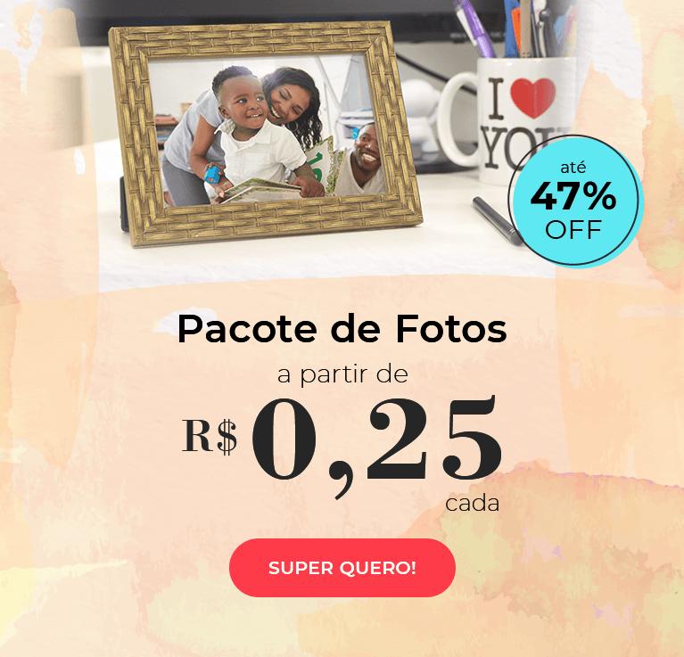 Pacote de fotos a partir de R$0,25 cada