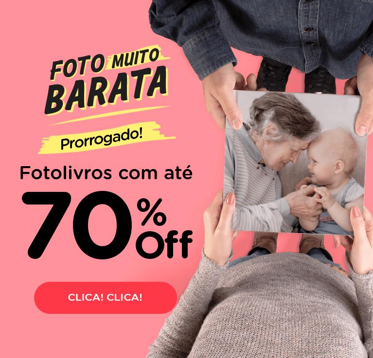 Foto Muito Barata! Fotolivros até 70% OFF