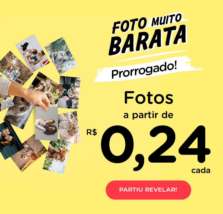 Foto Muito Barata! Fotos a partir de R$0,24 cada