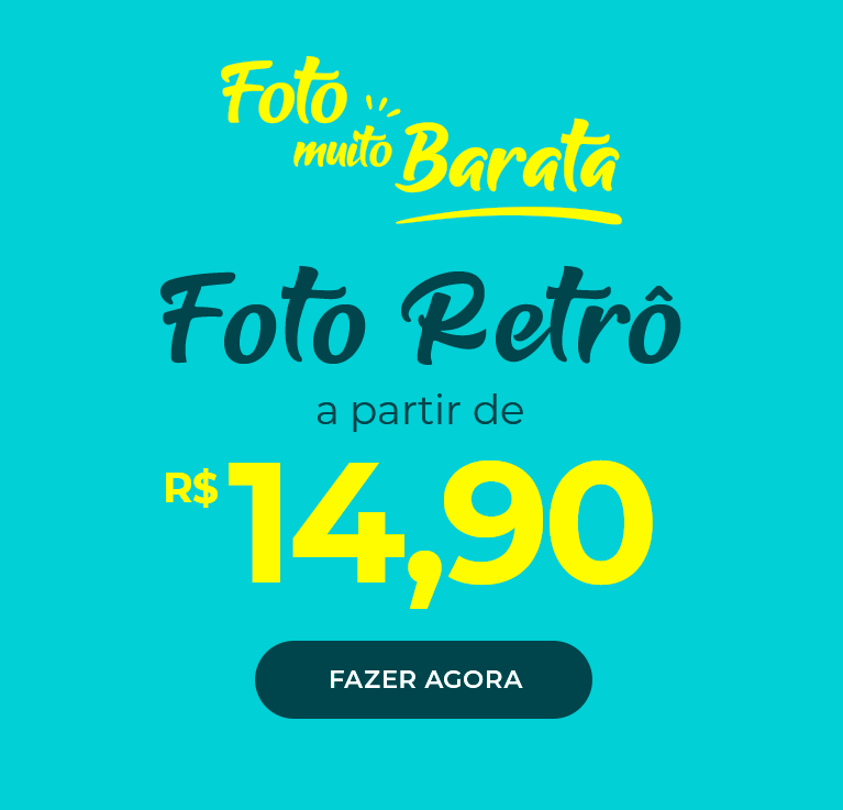 Foto Retrô com 50% OFF