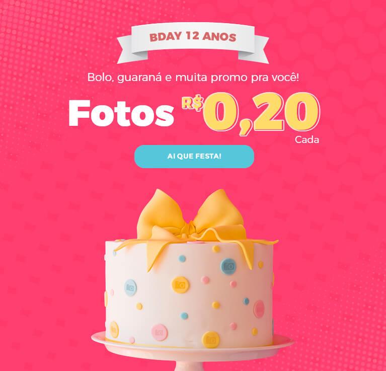 Aniversário FotoRegistro: Produtos por R$ 12,00